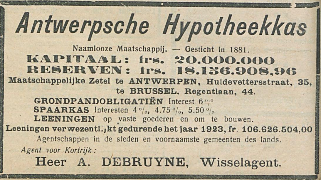 Antwerpsche Hypoiheekkas