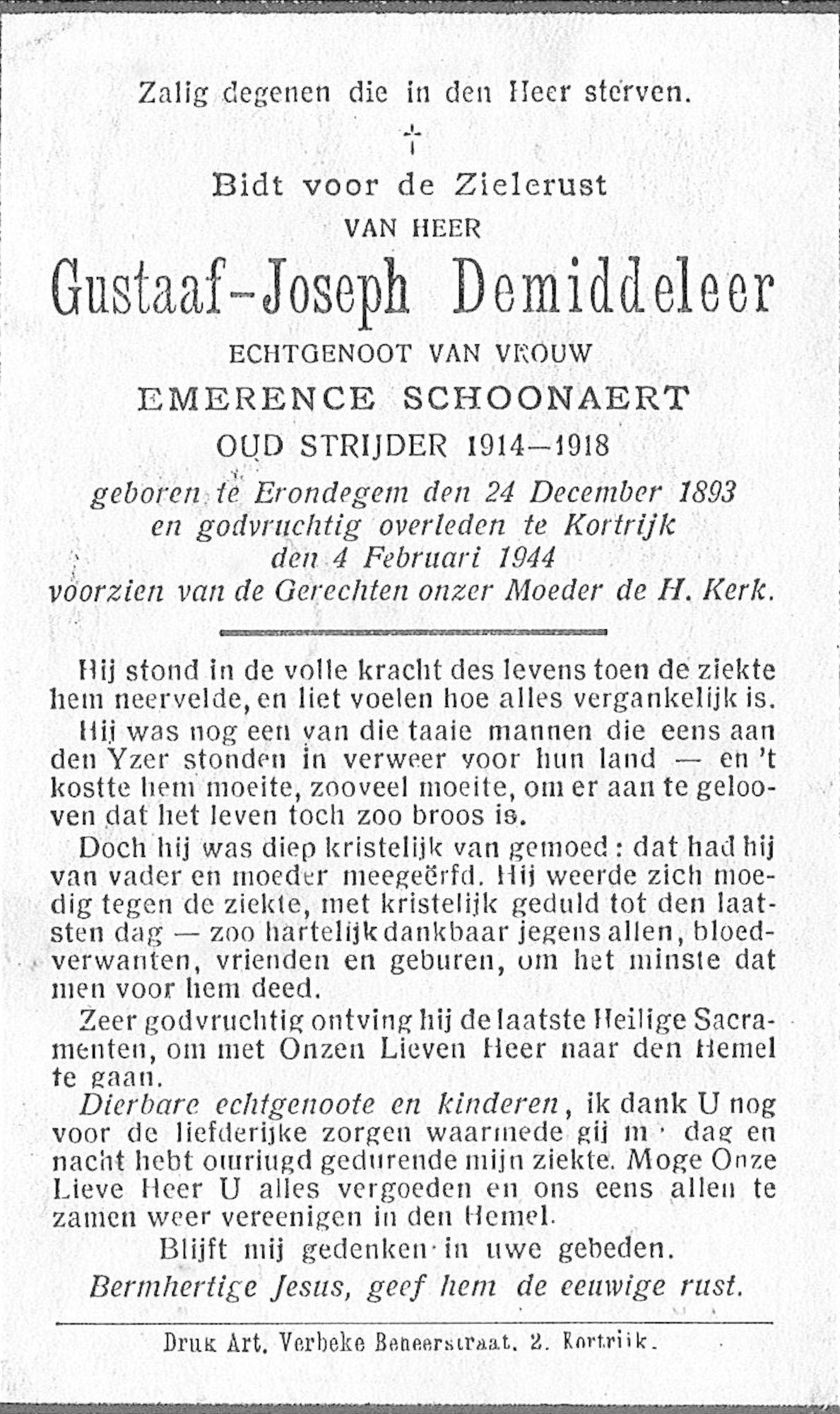 Gustaaf-Joseph Demiddeleer