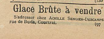 Glace Brute a vendre