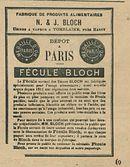 PARIS FECULE BLOCH