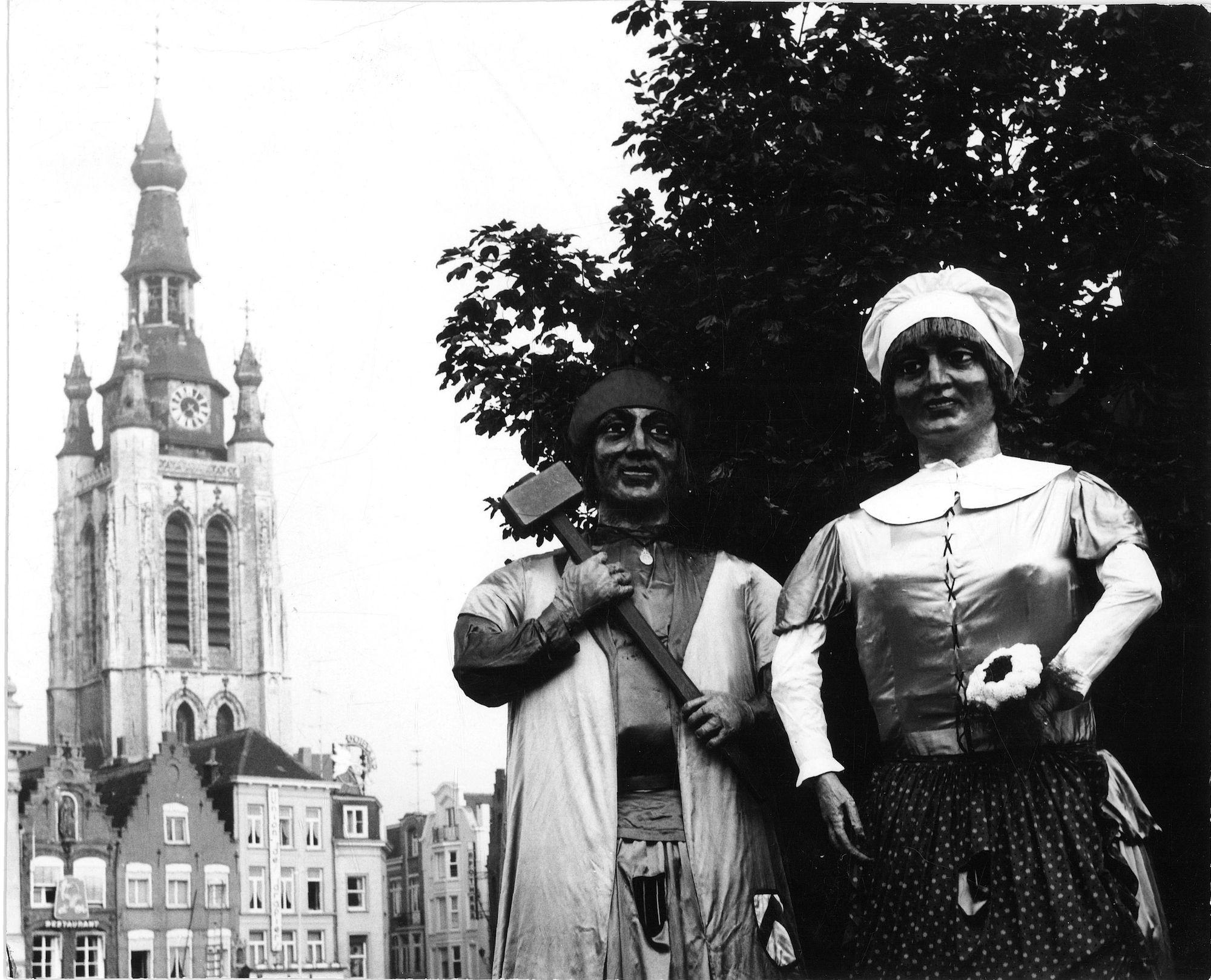 Manten en Kalle circa 1960