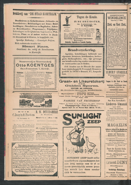 De Stad Kortrijk 1911-10-28 p4