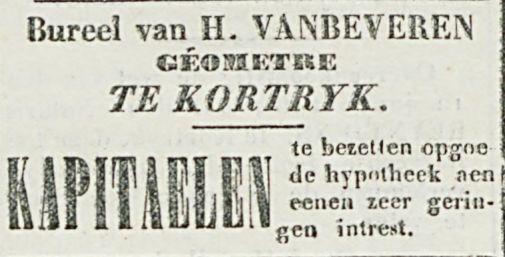 Bureel van H. VANBEVEREN