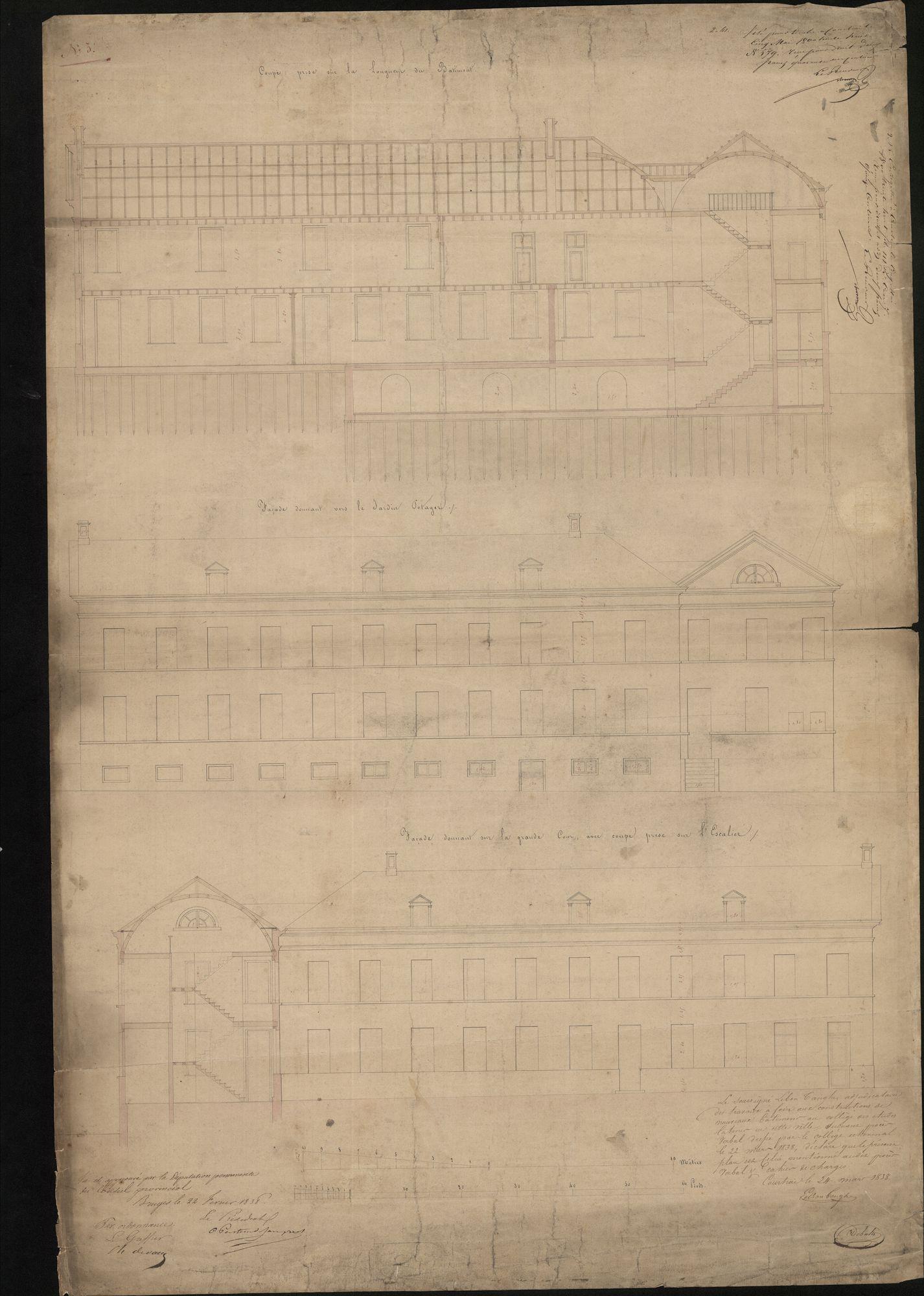 Bouwplan van een op te richten kapel van het Sint-Amandscollege te Kortrijk, 1861