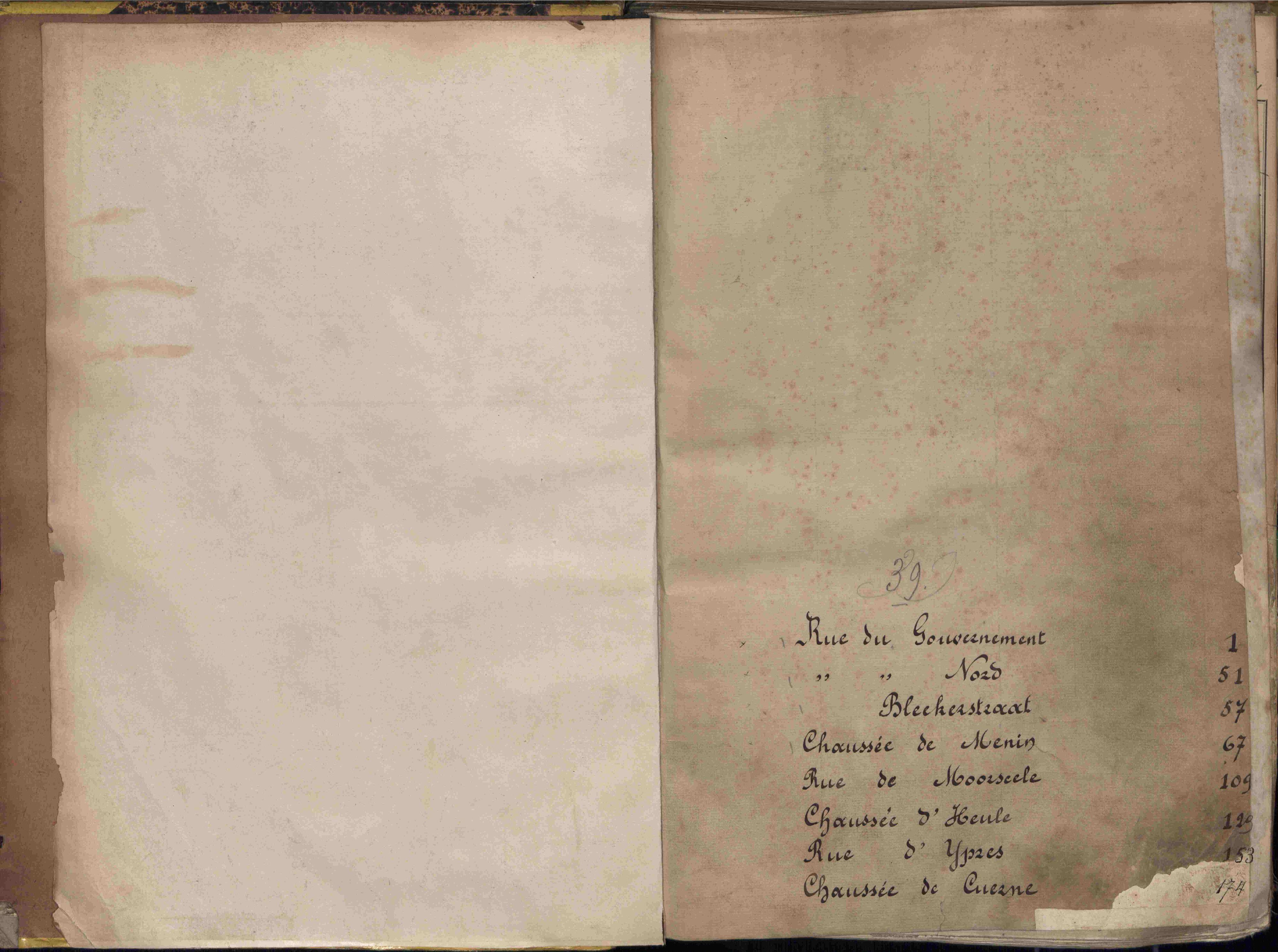 Bevolkingsregister Kortrijk 1890 boek 39