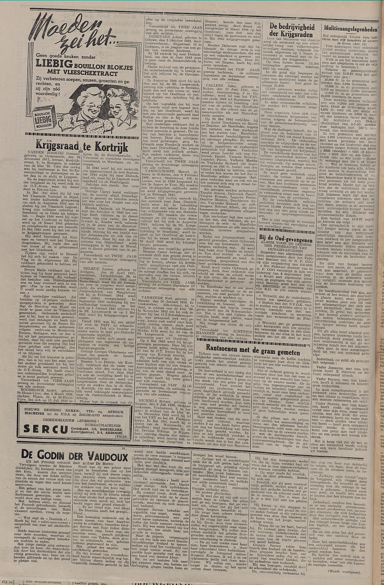Kortrijksch Handelsblad 17 september 1946 Nr75 p4