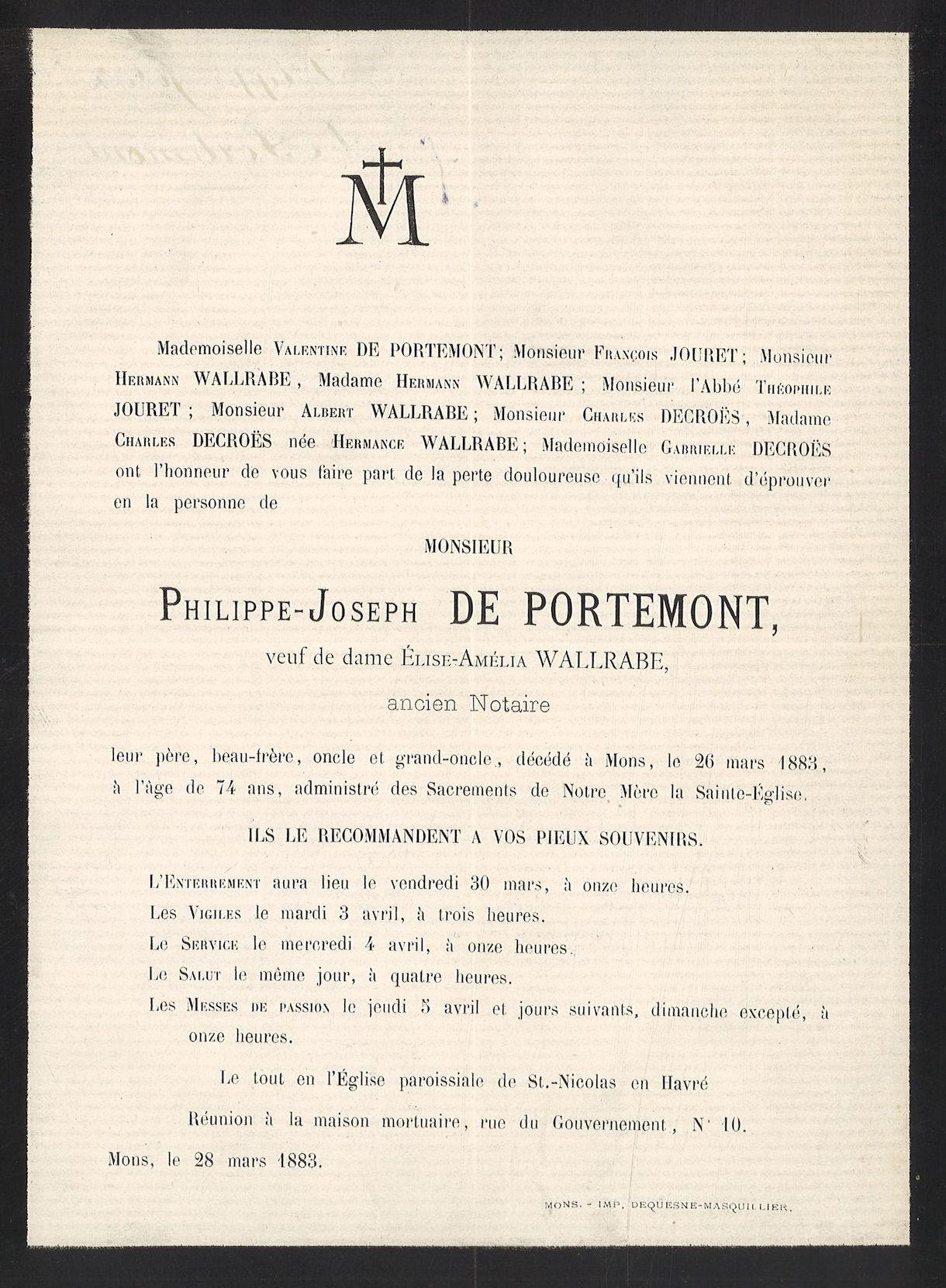 Philippe-Josep De Portemont