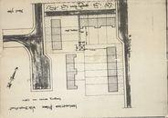 Plan voor de inplanting van een piloon in de wijk Bozestraat te Heule, 2de helft 20ste eeuw