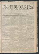 L'echo De Courtrai 1883-03-15