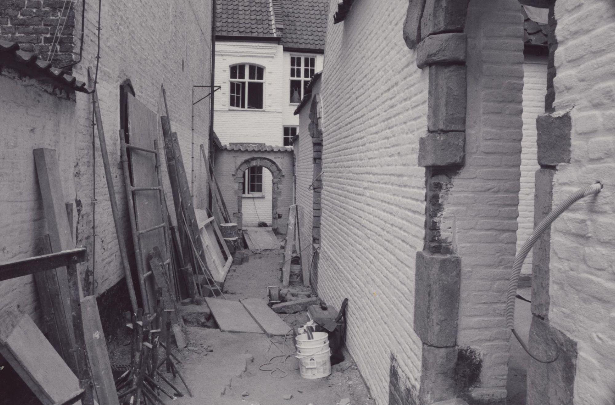 Restauratiewerken in het Begijnhof