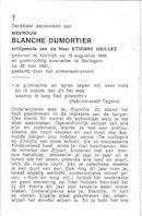 Blanche Dumortier