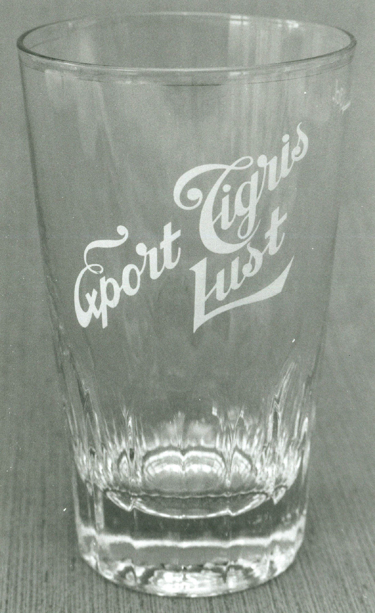 Export bierglas van brouwerij Lust