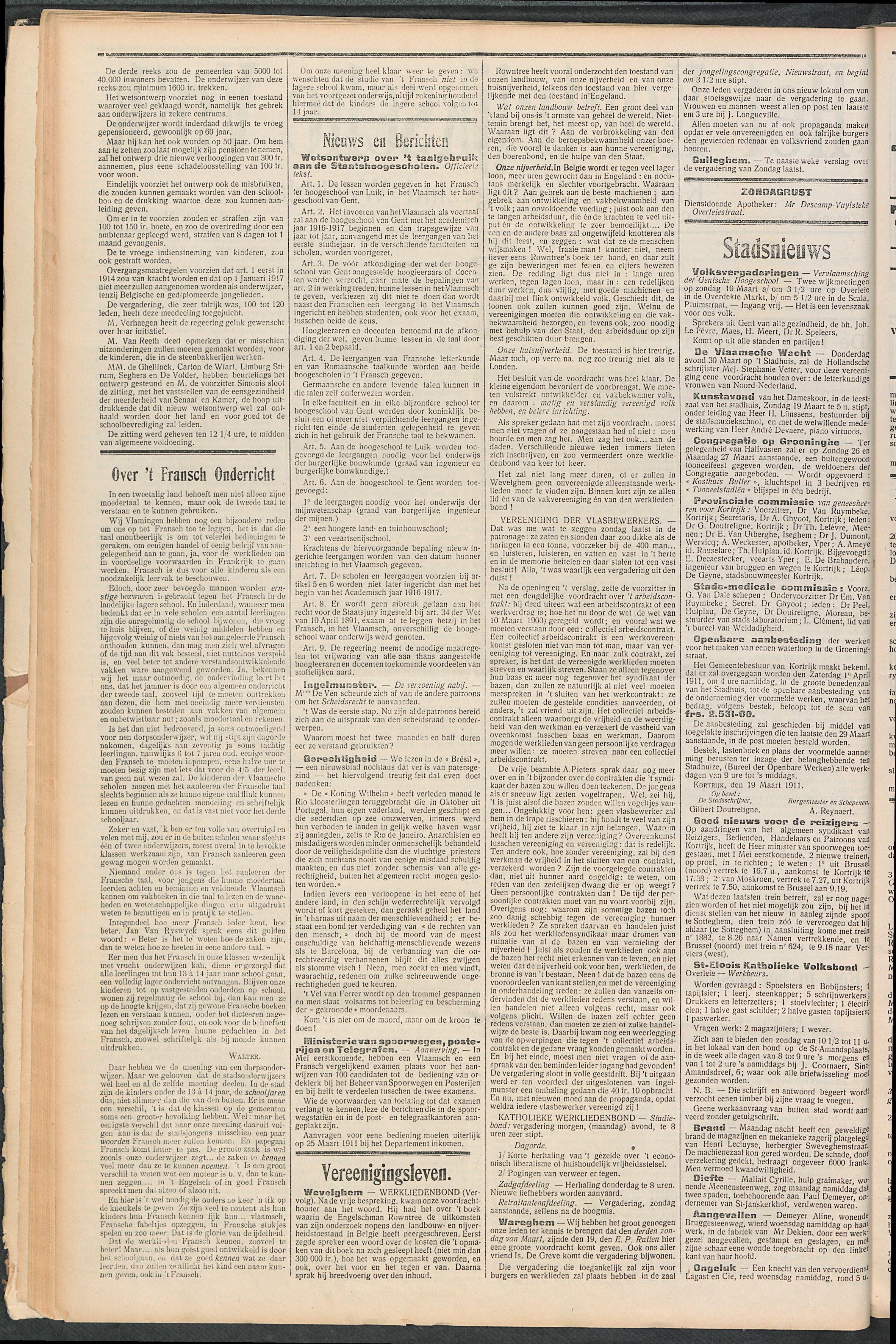 Het Kortrijksche Volk 1911-03-19 p2