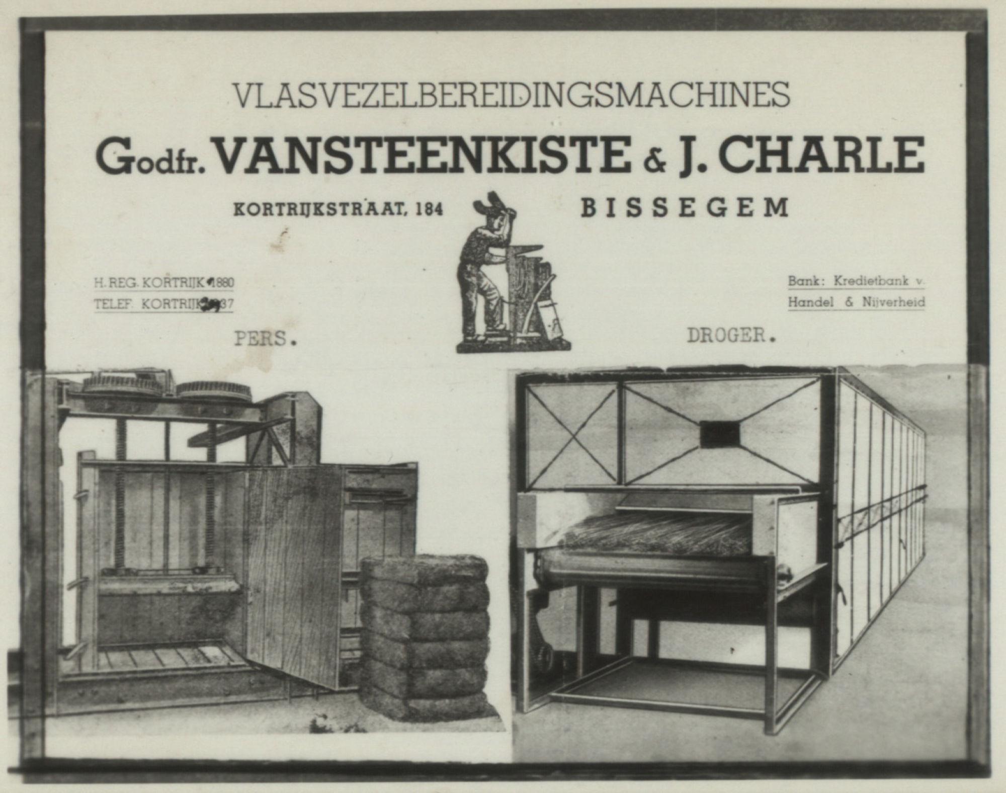 Vlasvezelbereidingsmachine Vansteenkiste & Charle