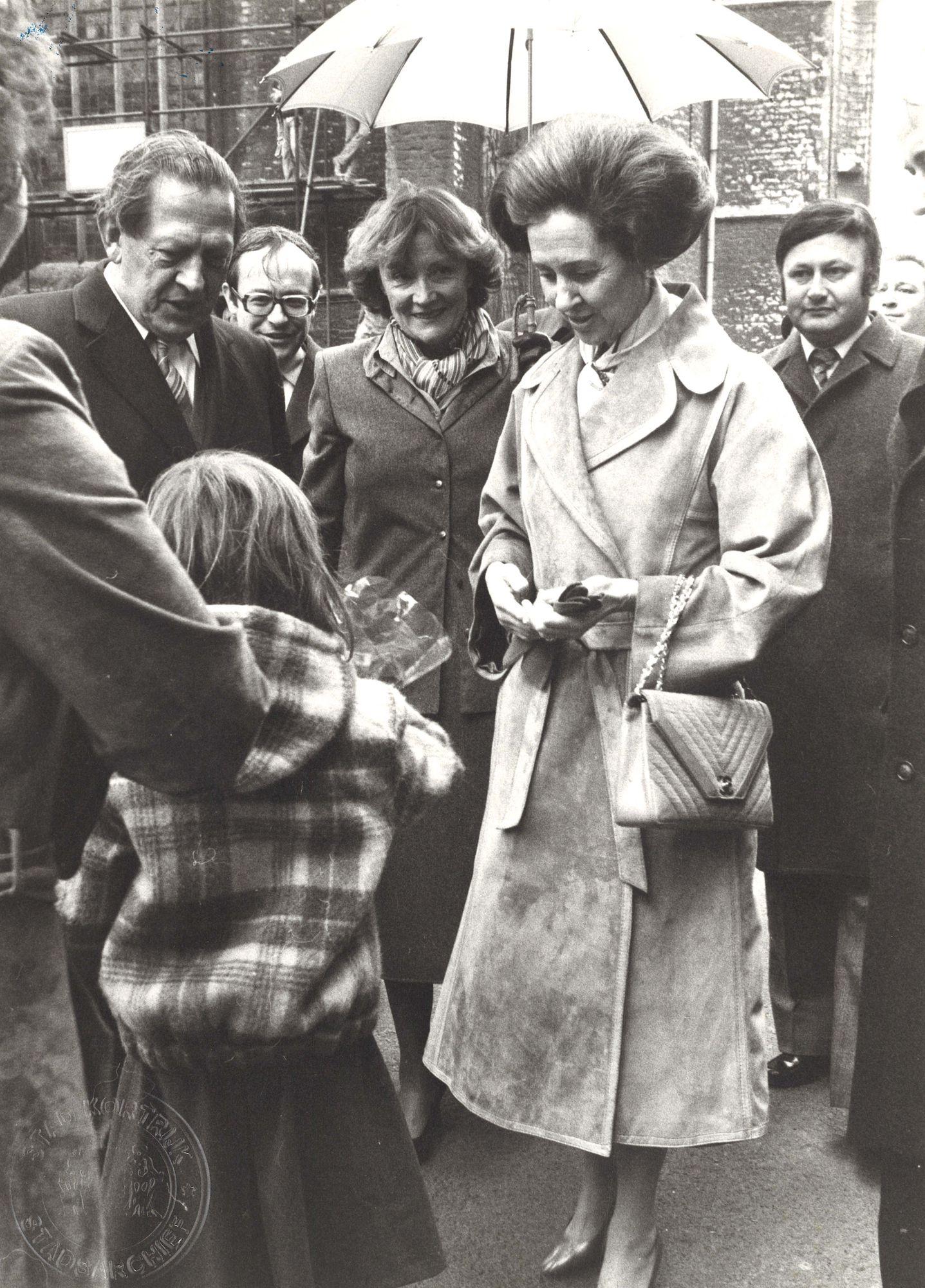 Koningin Fabiola bezoekt Kortrijk