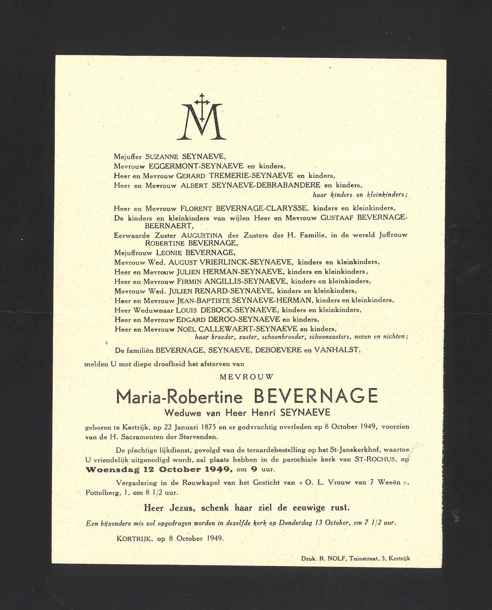 Bevernage Maria-Robertine