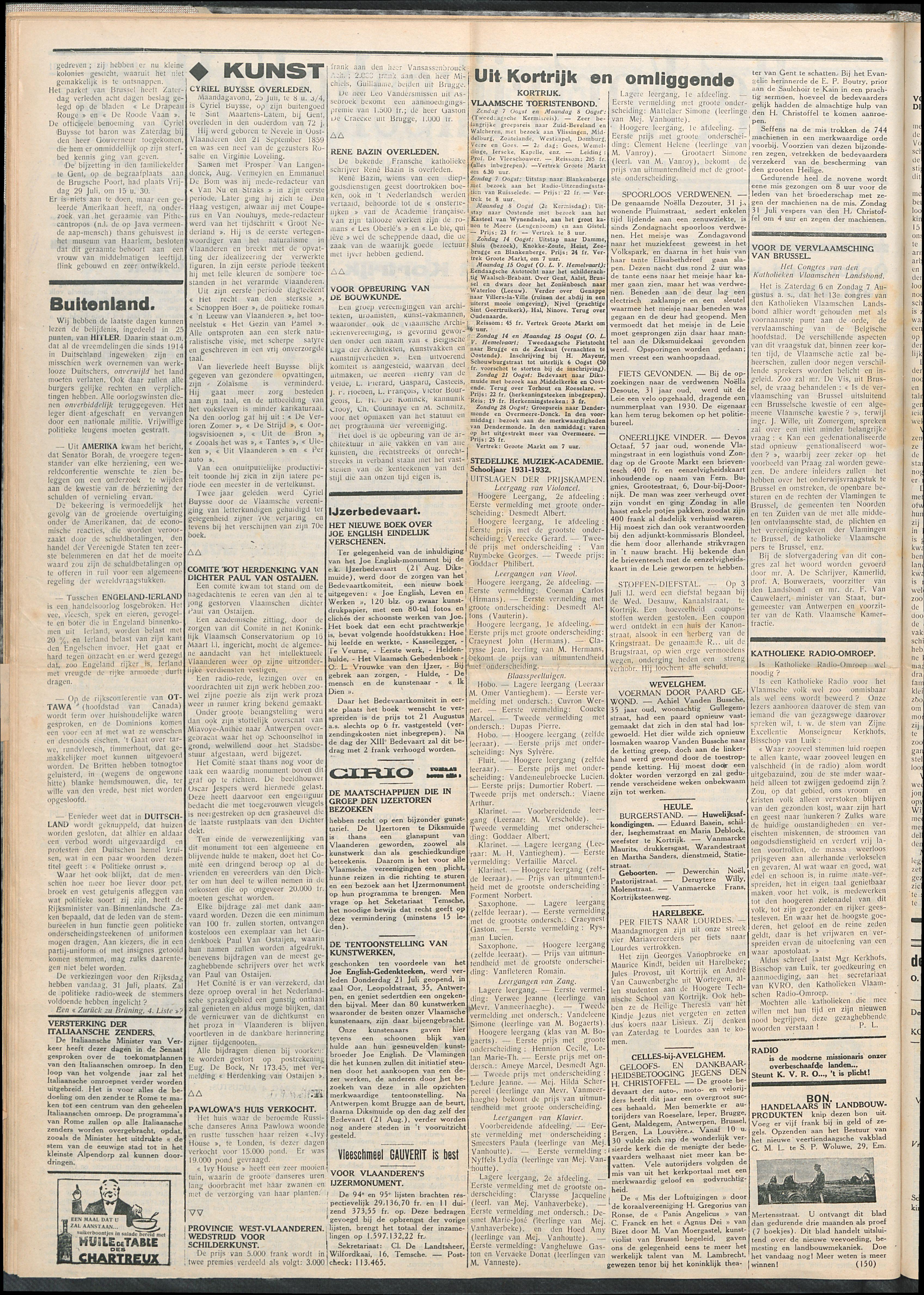 Het Kortrijksche Volk 1932-07-31 p2