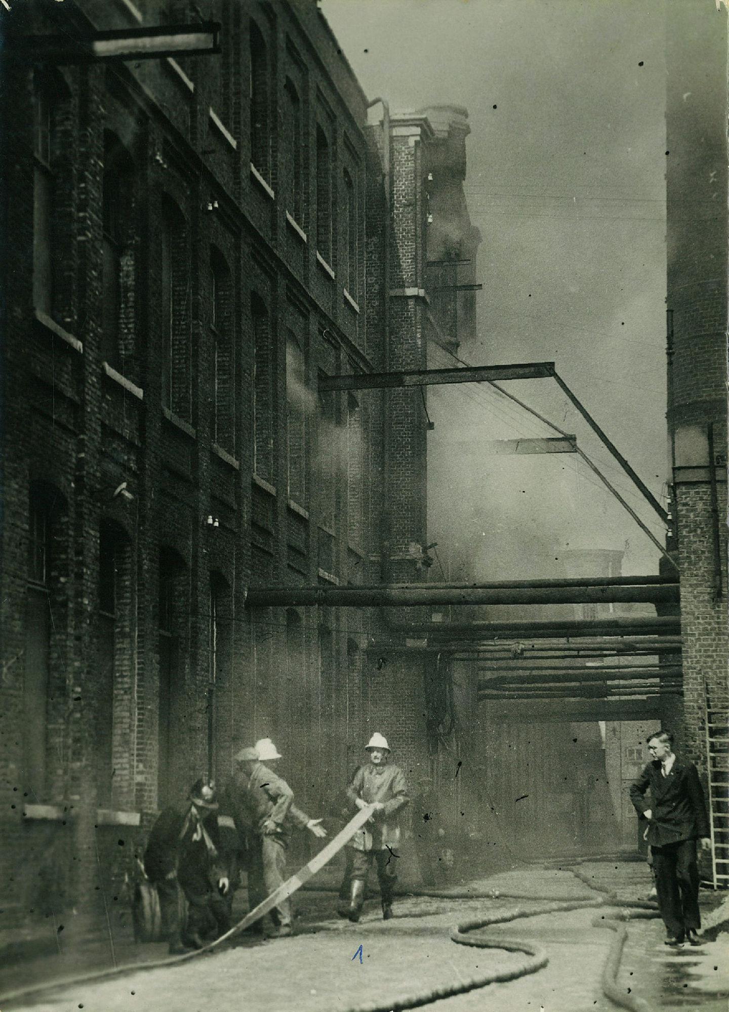 Brand bij De Kien in 1936