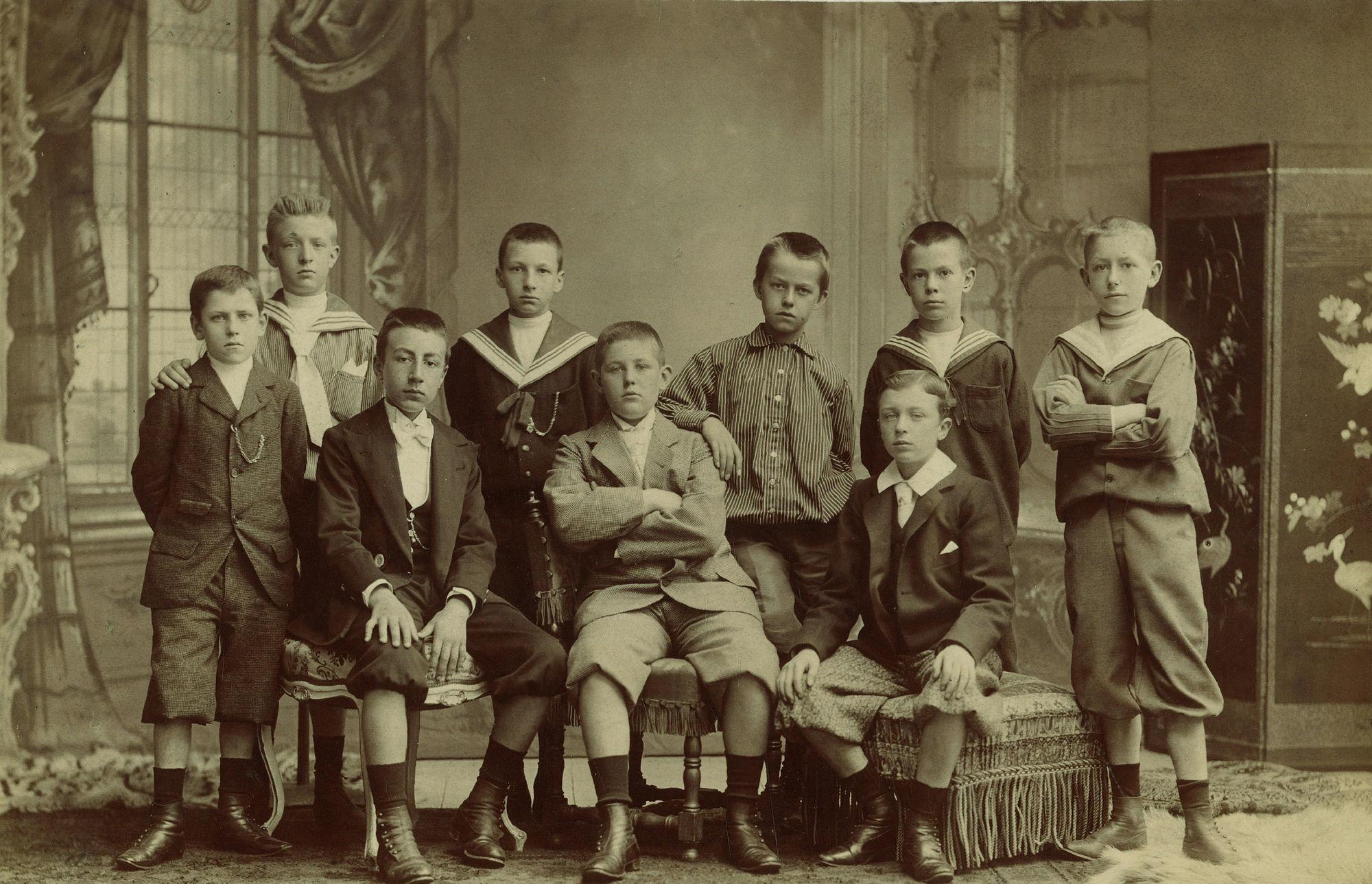 Klasfoto De jeugd van toen