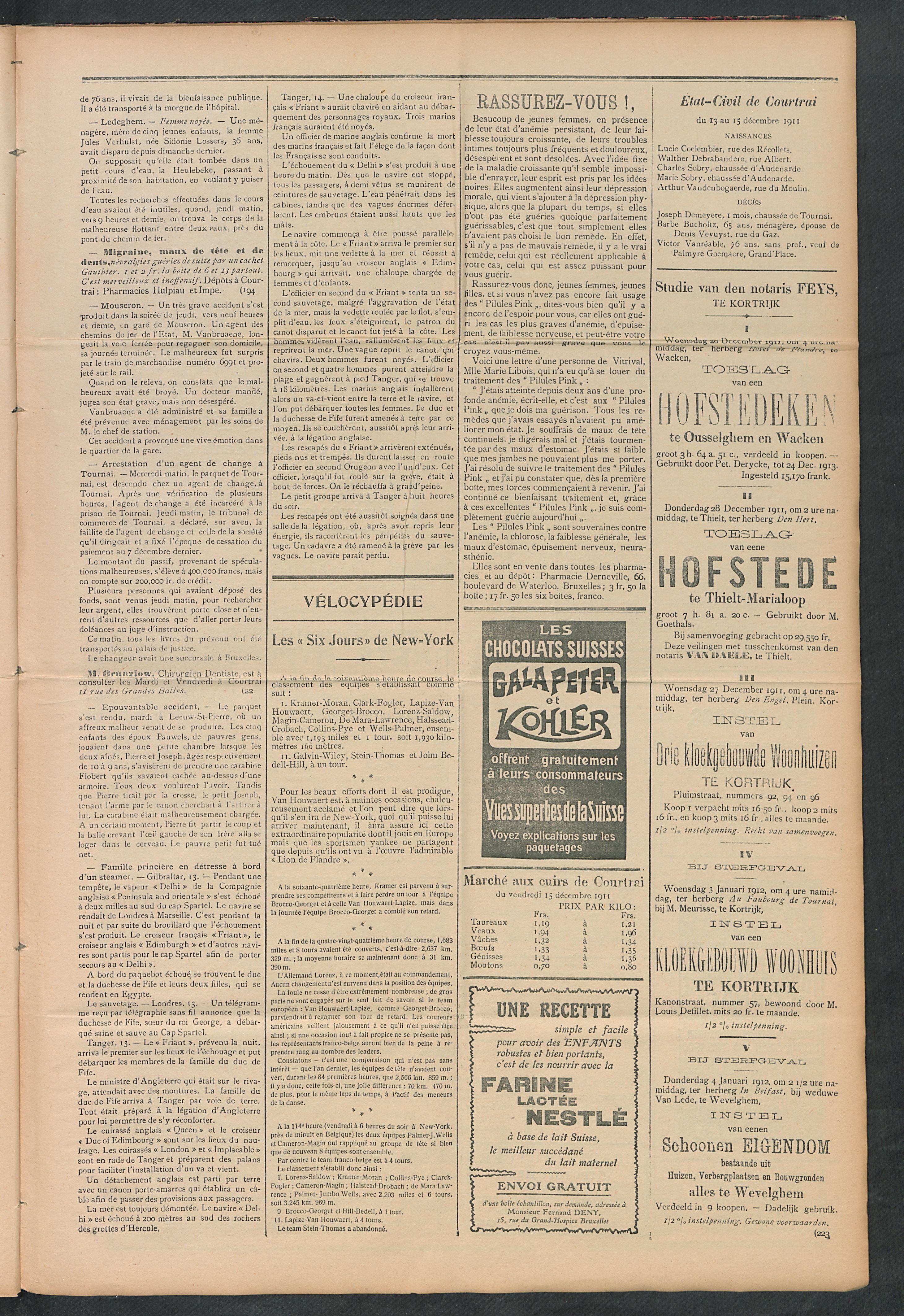 L'echo De Courtrai 1911-12-17 p3