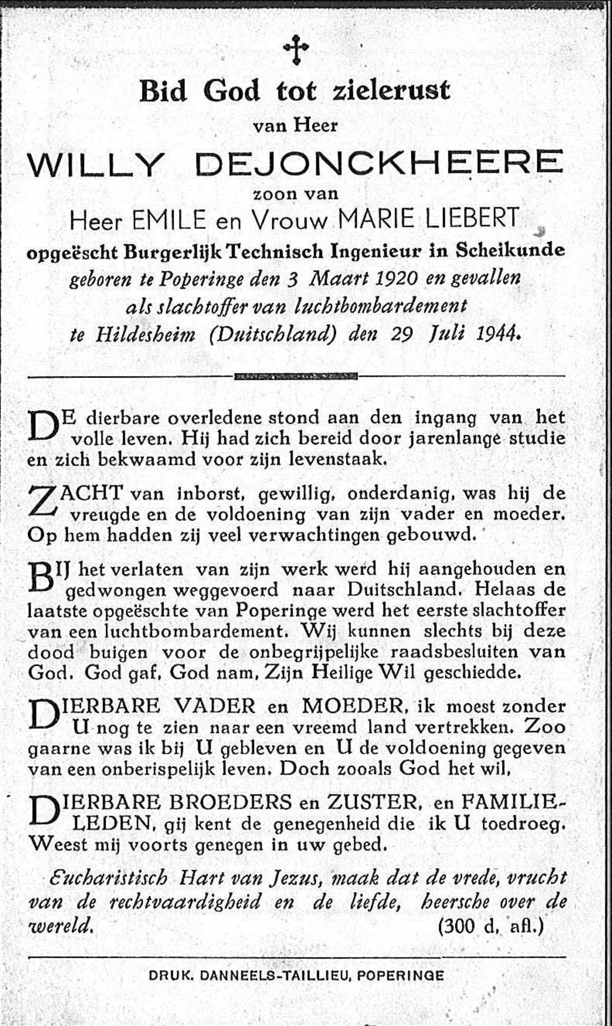 Willy Dejonckheere