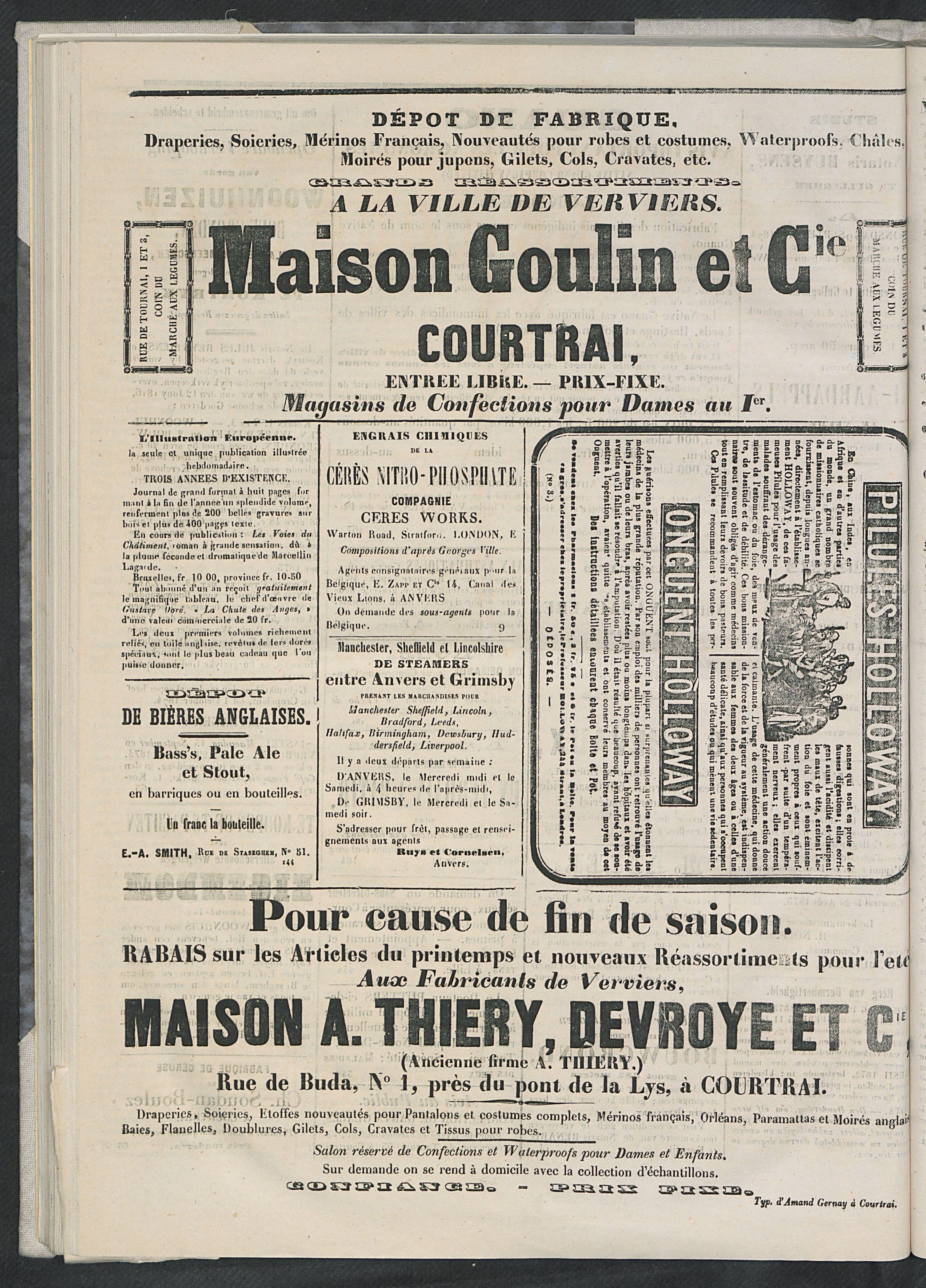 L'echo De Courtrai 1873-09-04 p4