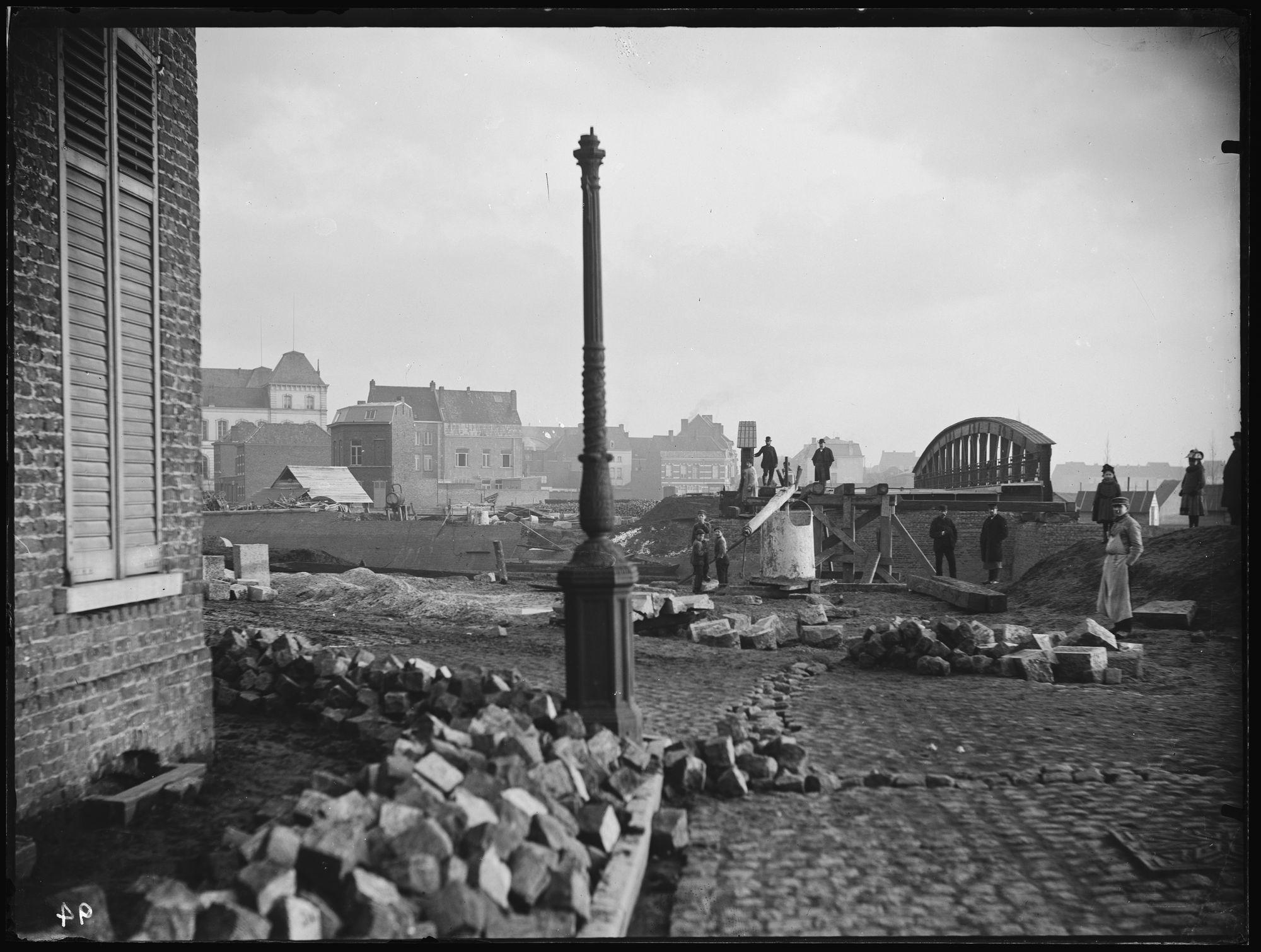 Noordbrug en Noordstraat in 1892
