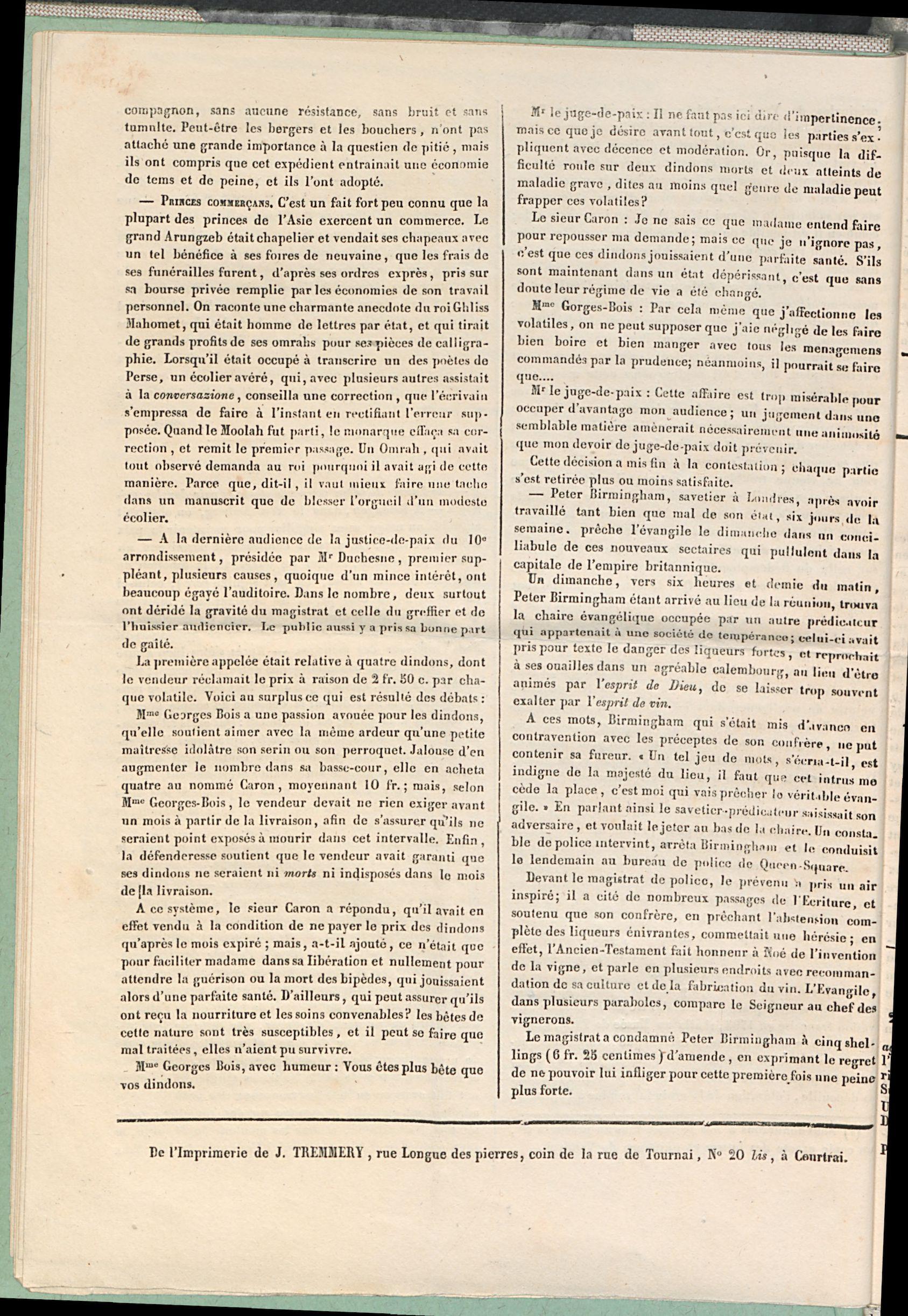 Petites Affiches De Courtrai 1835-09-06 p4