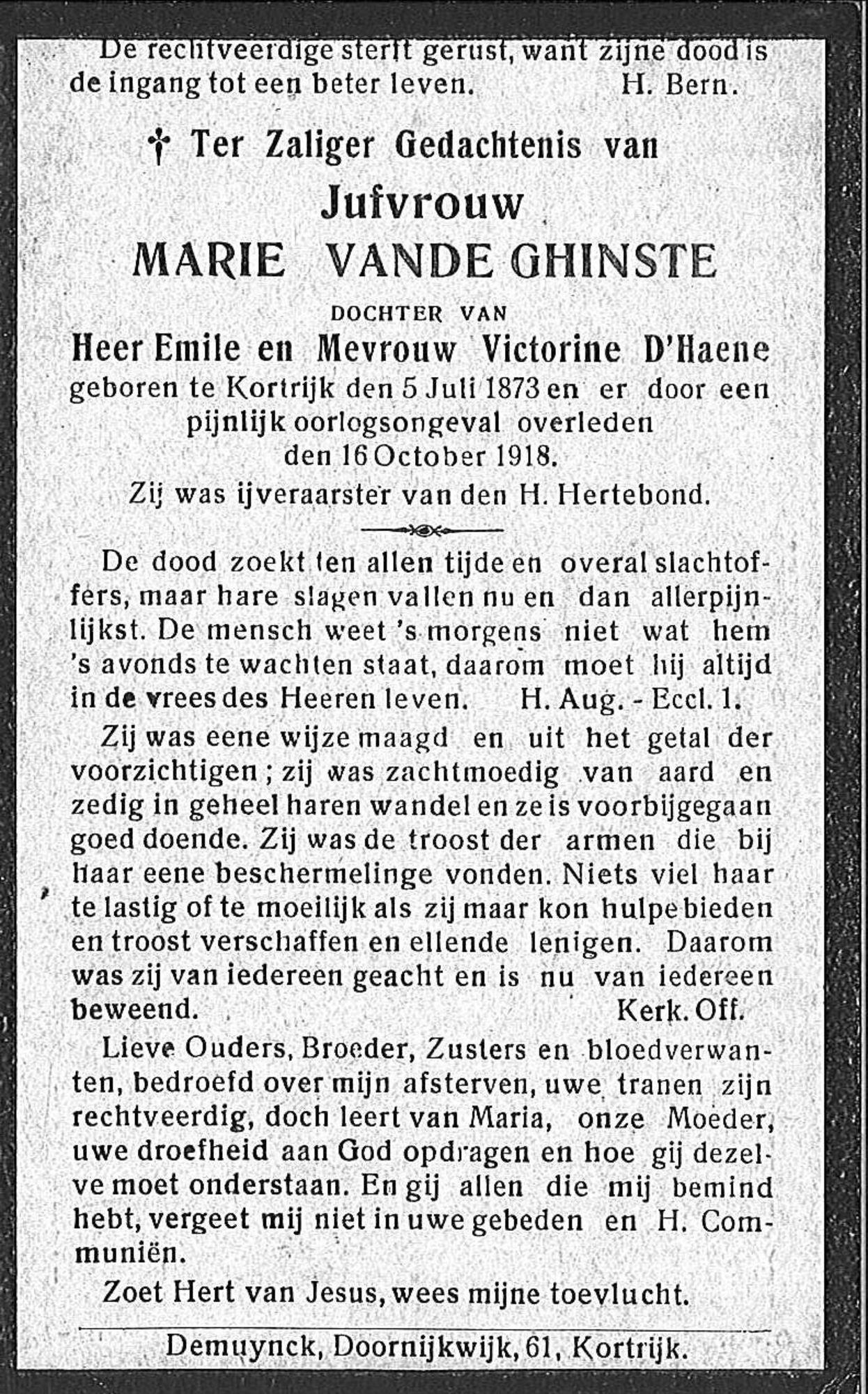 Marie Vande Ghinste
