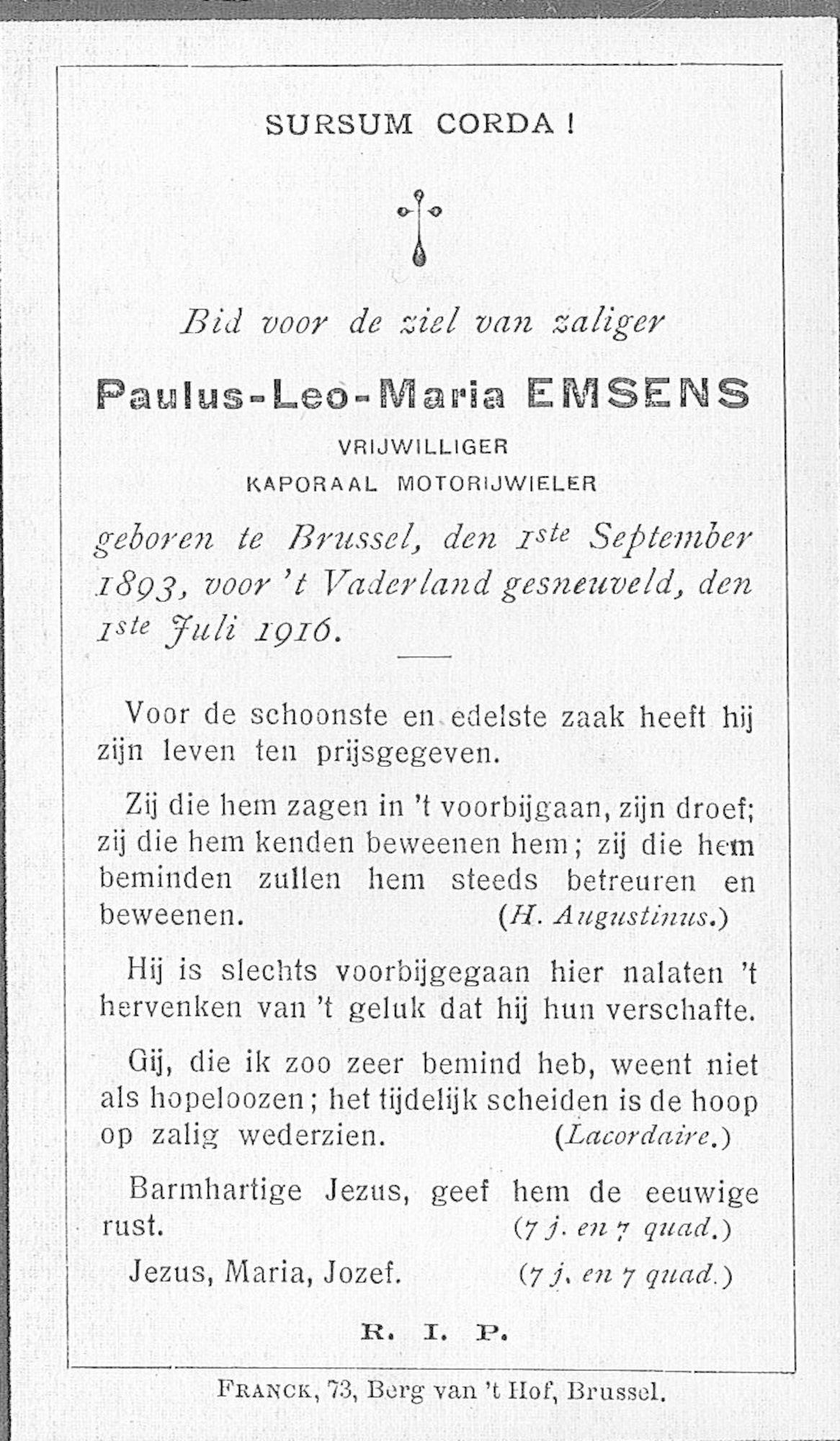 Emsens Paulus-Leo-Maria