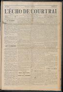 L'echo De Courtrai 1914-08-09