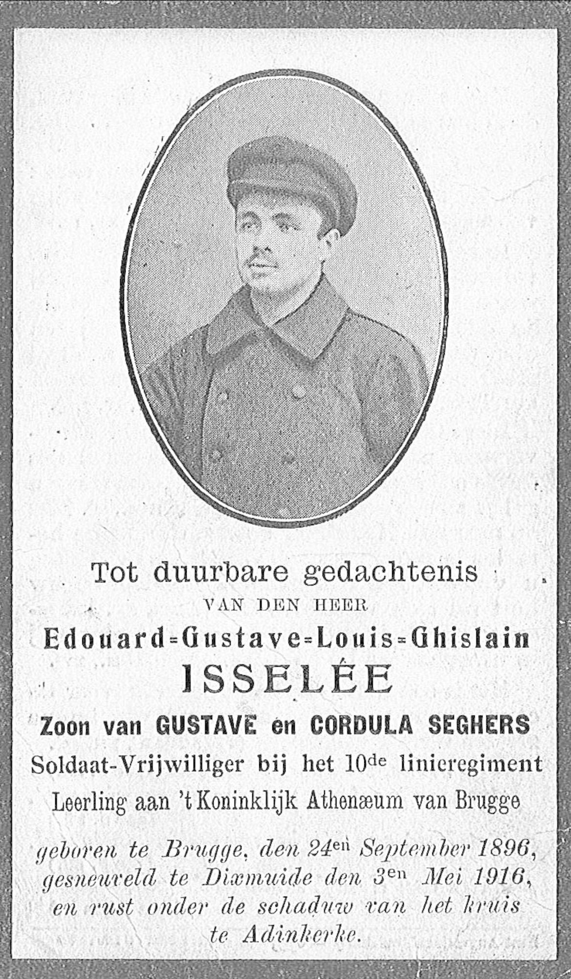 Edouard-Gustave-Louis-Ghislain Isselée