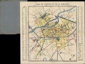Plattegrond van Kortrijk en omgeving, 20ste eeuw