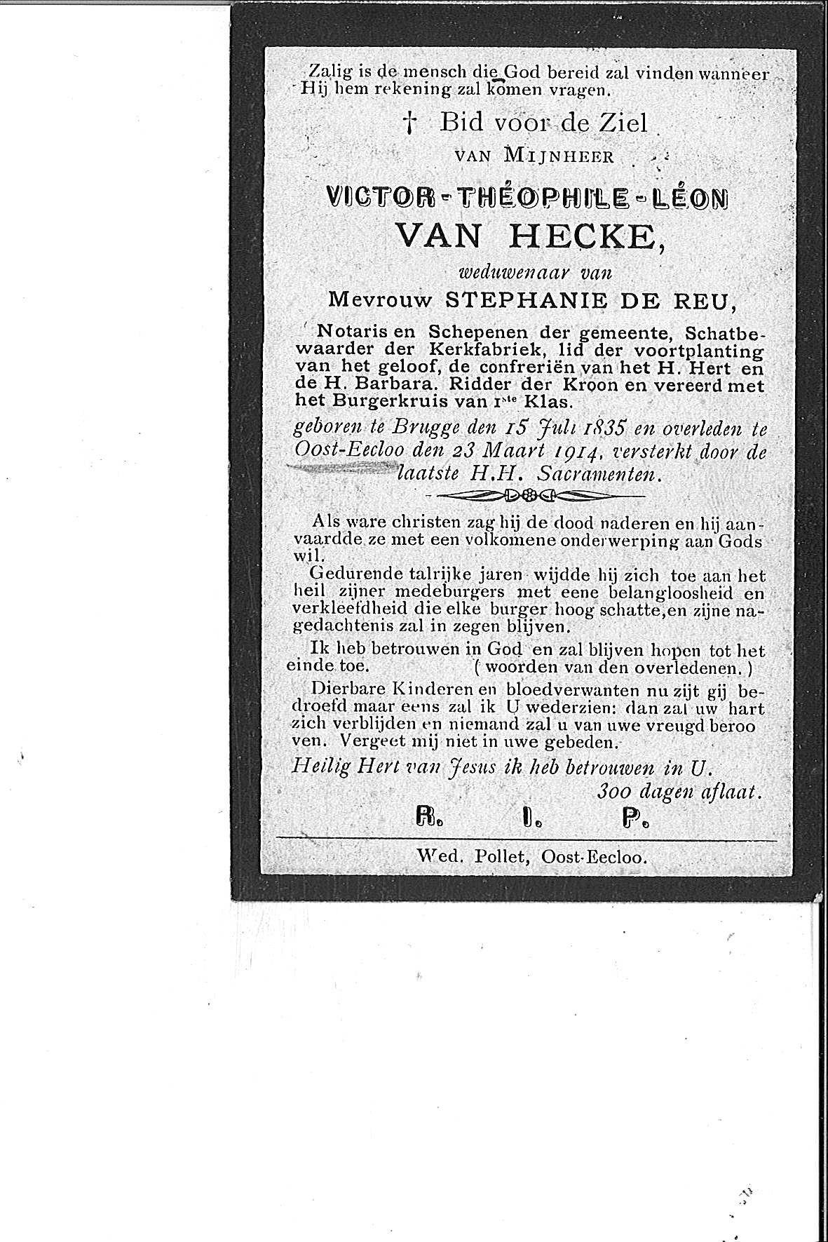 Van Hecke Victor Théophile Léon