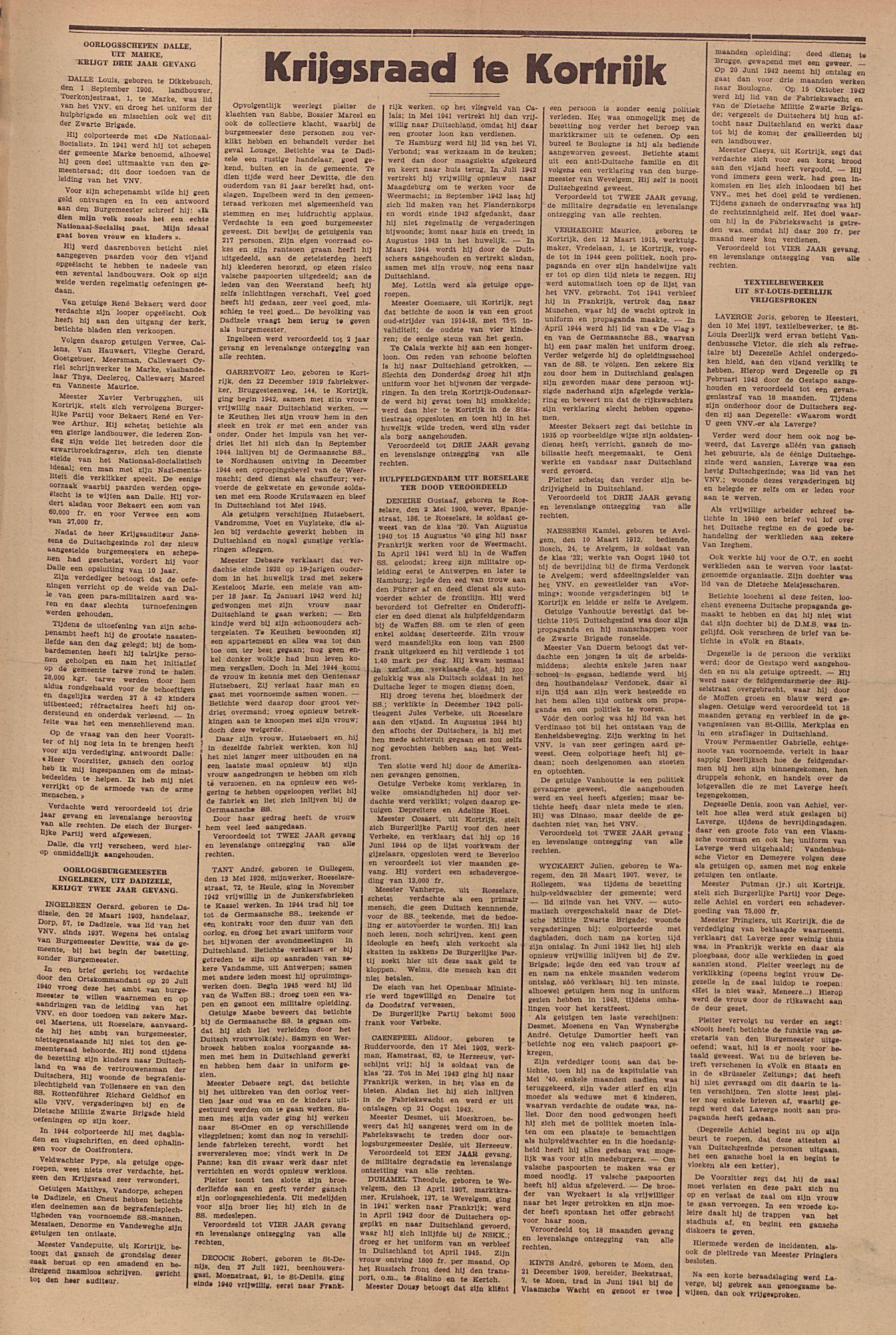Kortrijksch Handelsblad Kalender voor 1946 p2