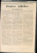 Petites Affiches De Courtrai 1835-11-01 p1