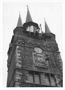 Halletoren (Belfort) tijdens de Manten en Kallefeesten 1961