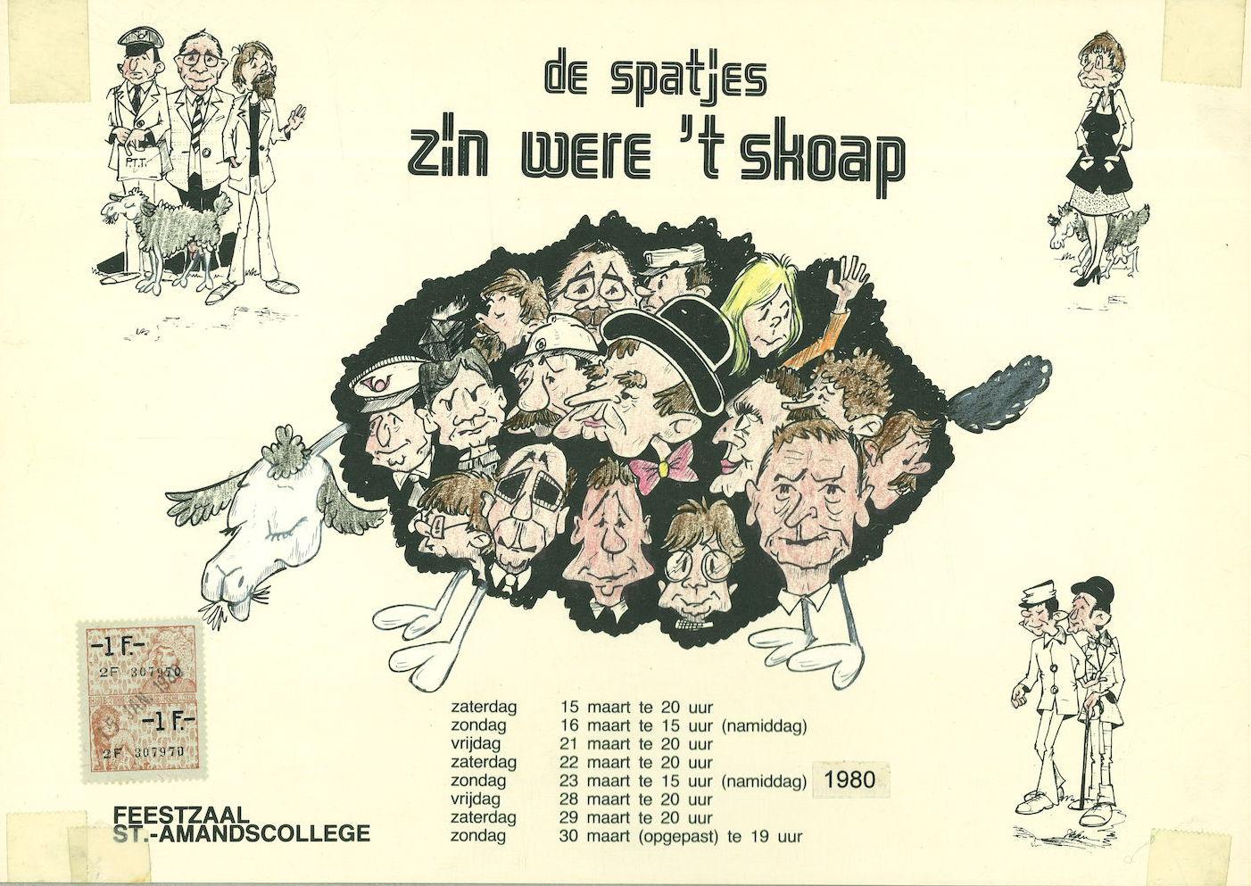 """Toneelvereniging """"De Spatjes"""" 1980"""