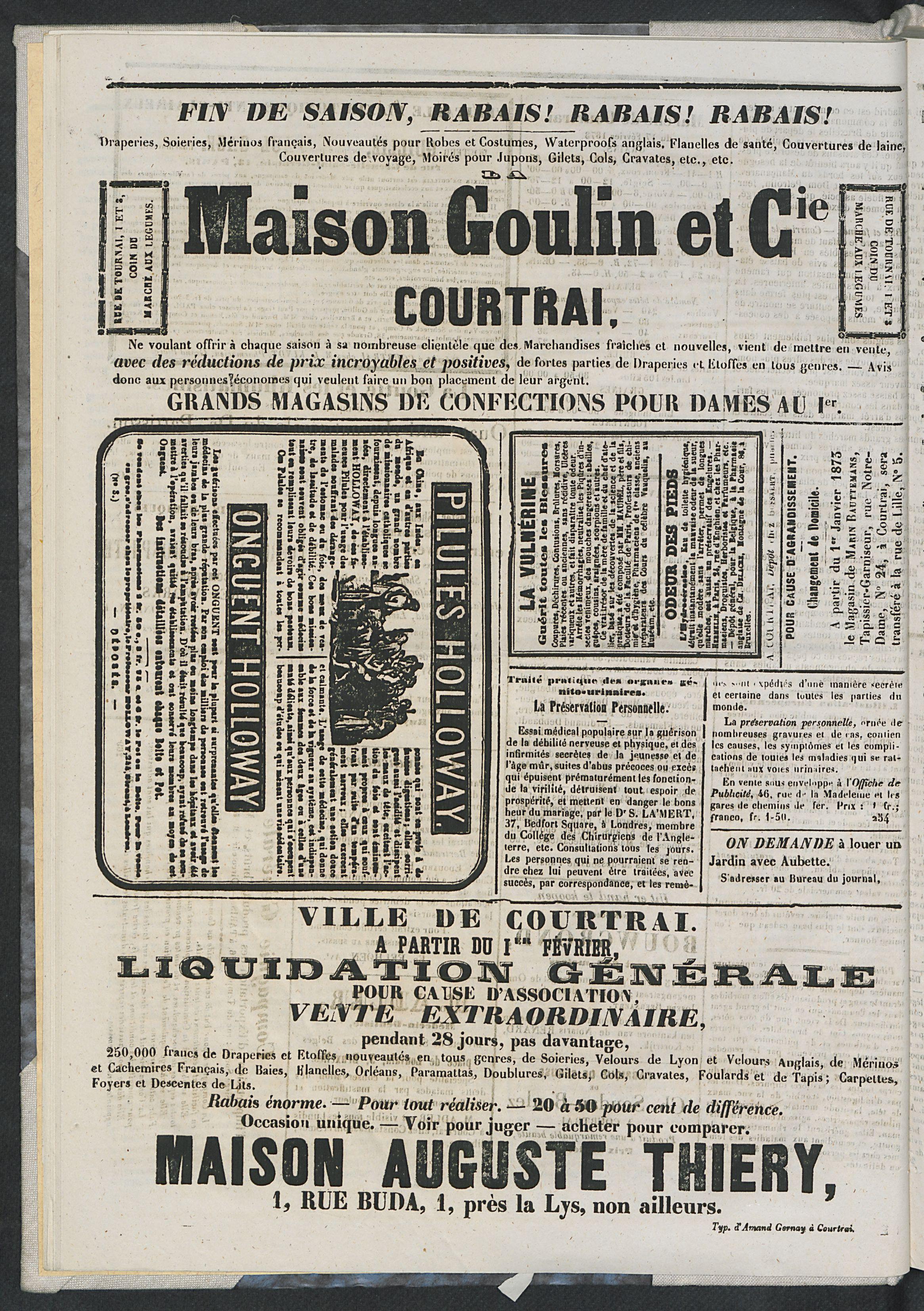 L'echo De Courtrai 1873-02-20 p4