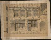 Bouwplan van een huis in de Kasteelstraat, vroeger het huis van de armenkamer, toebehorende aan Verbrugghe te Kortrijk, 19de eeuw