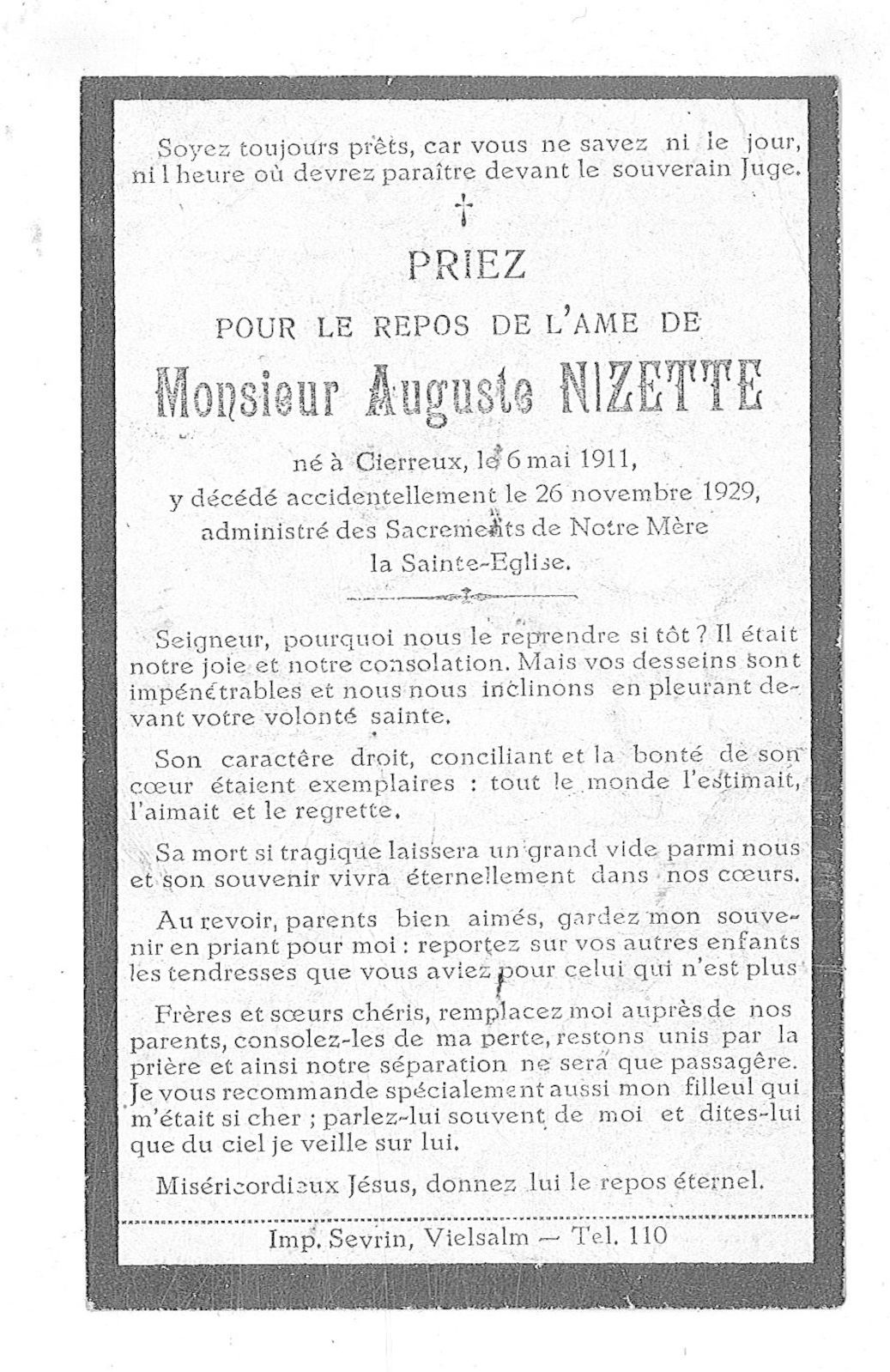 Auguste Nizette