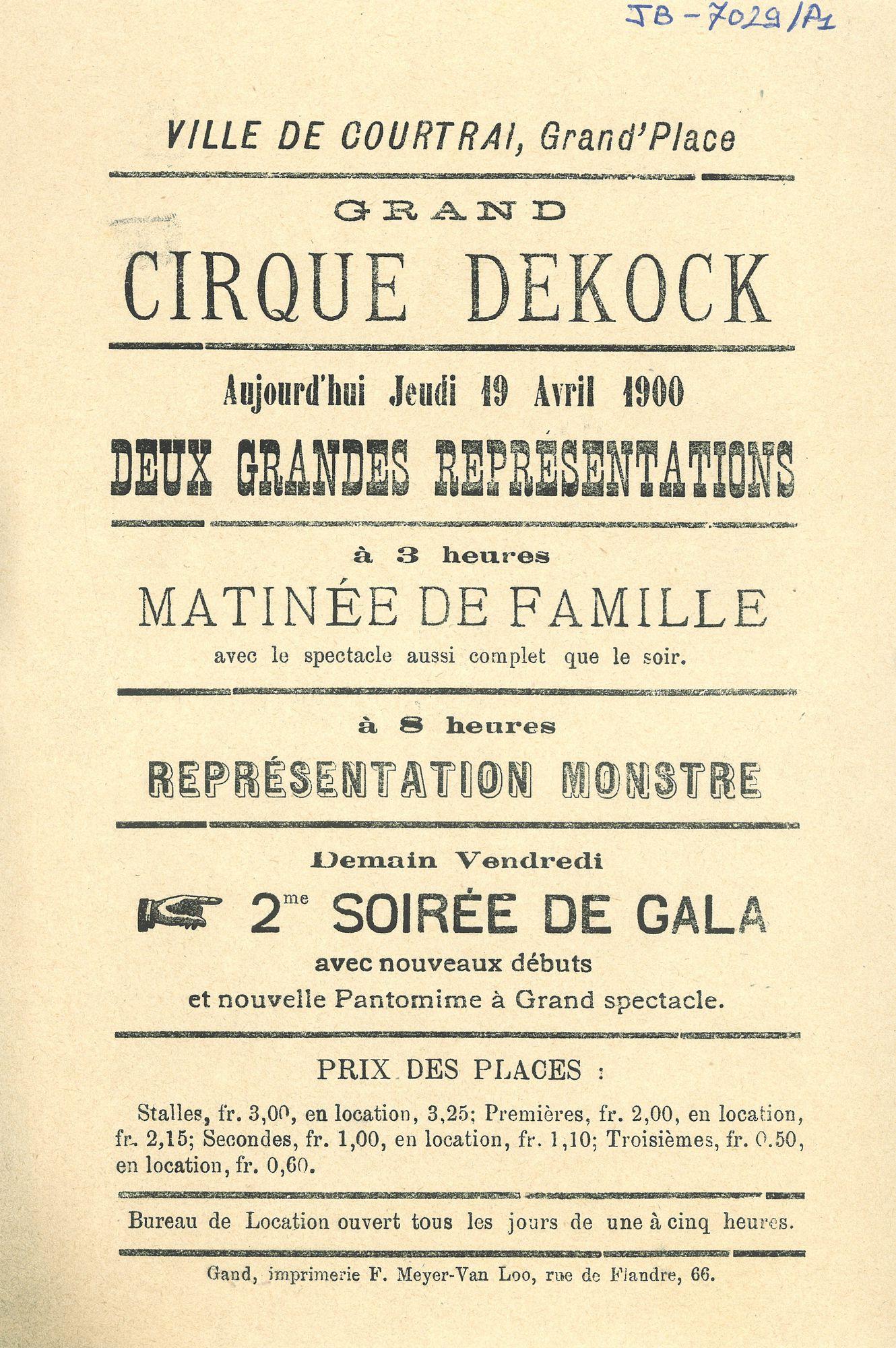 Paasfoor 1900: Grand Cirque Dekock
