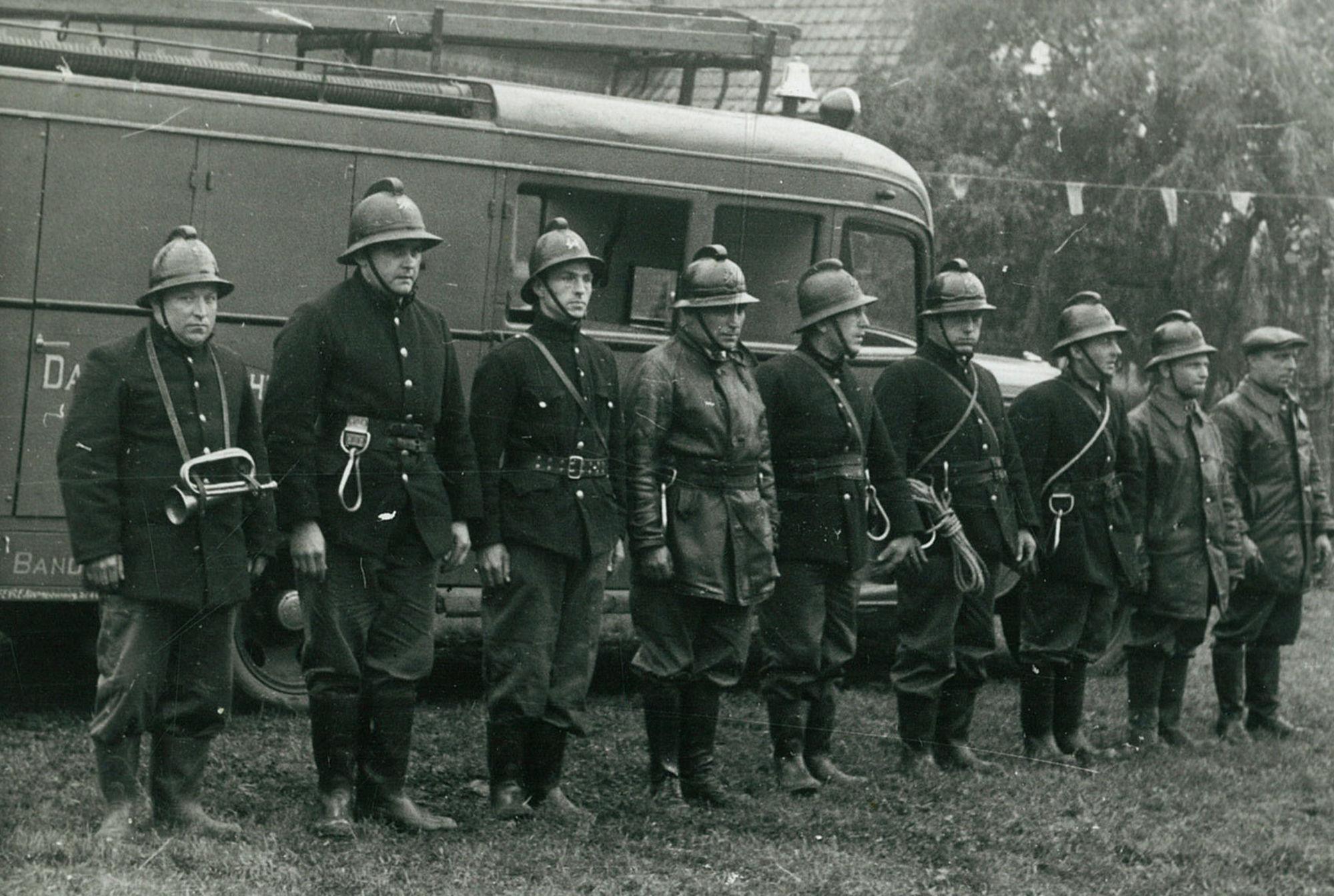 Brandweeroefening te Heule in 1936