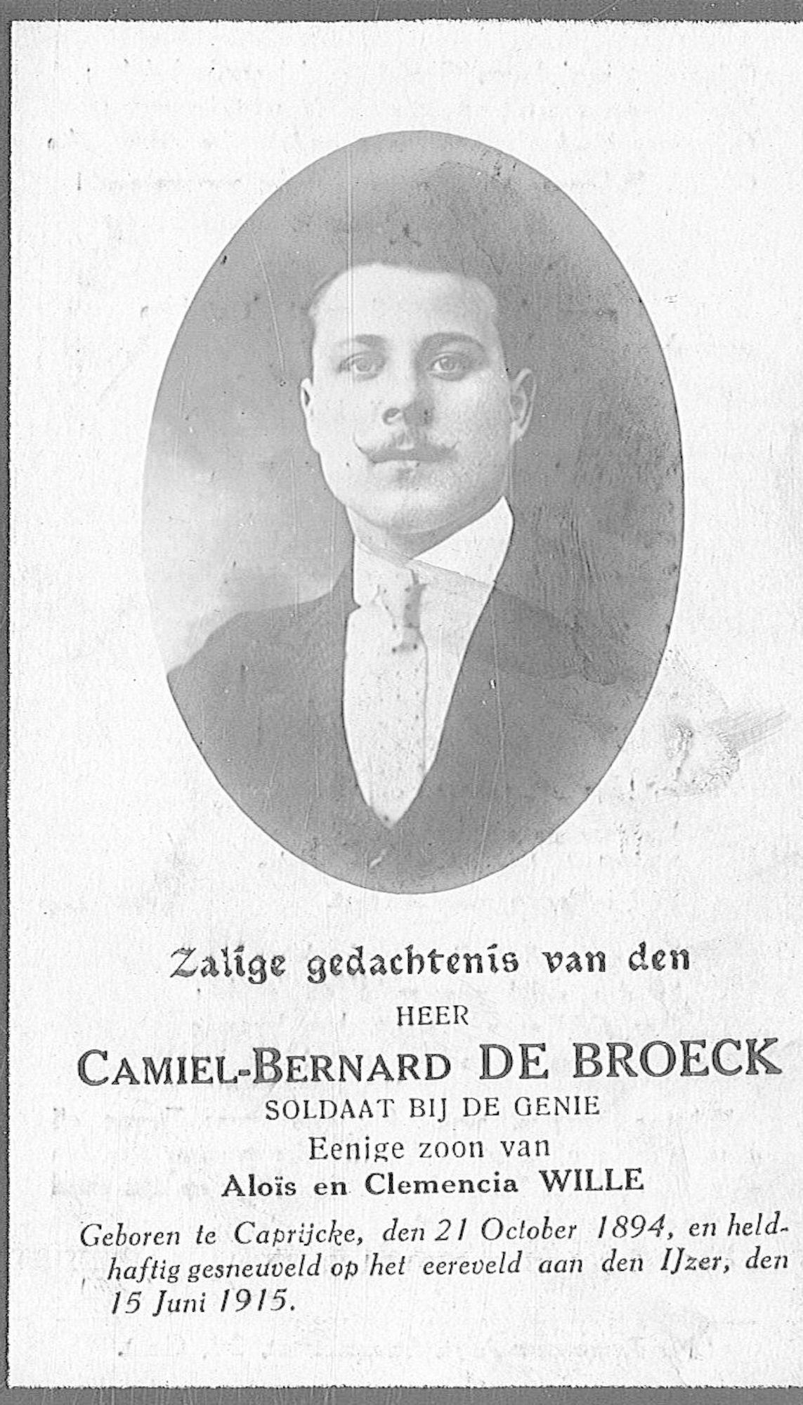 De Broeck Camiel-Bernard
