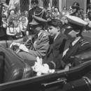 Koninklijk bezoek - Onthulling Leiemonument 1957