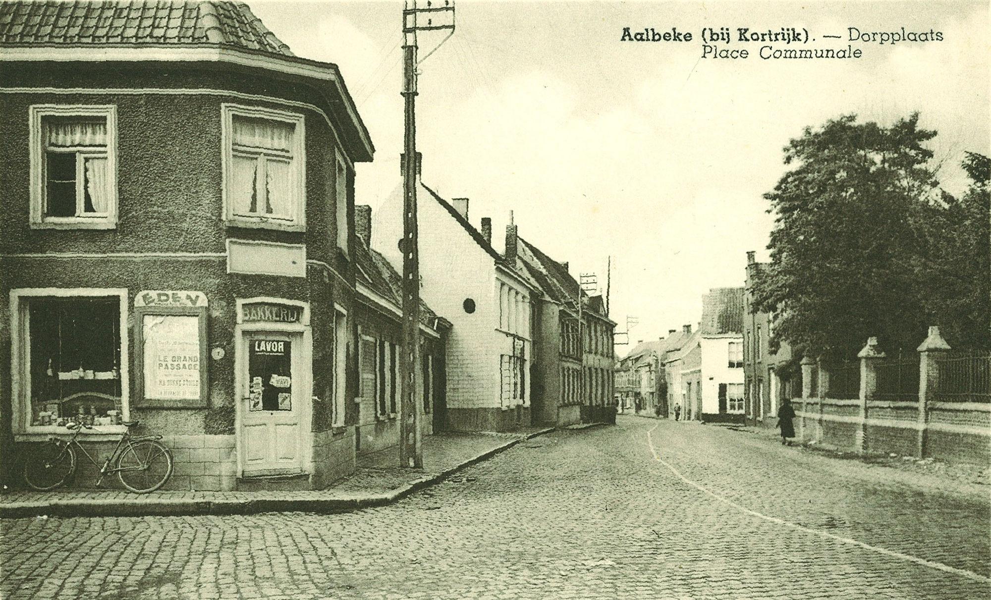 De dorpplaats te Aalbeke