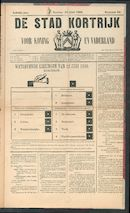 De Stad Kortrijk 1888-06-10