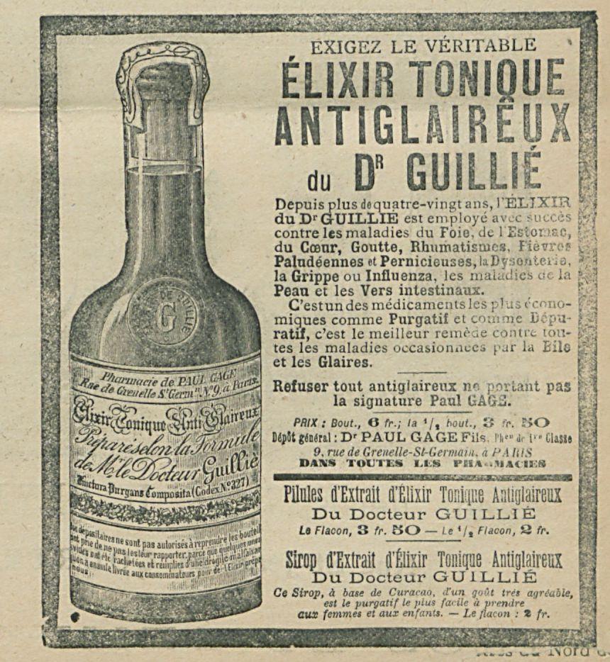 ELIXIR TONIQUE  ANTIGLARIEUX