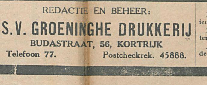 GROENINGHE DRUKKERIJ