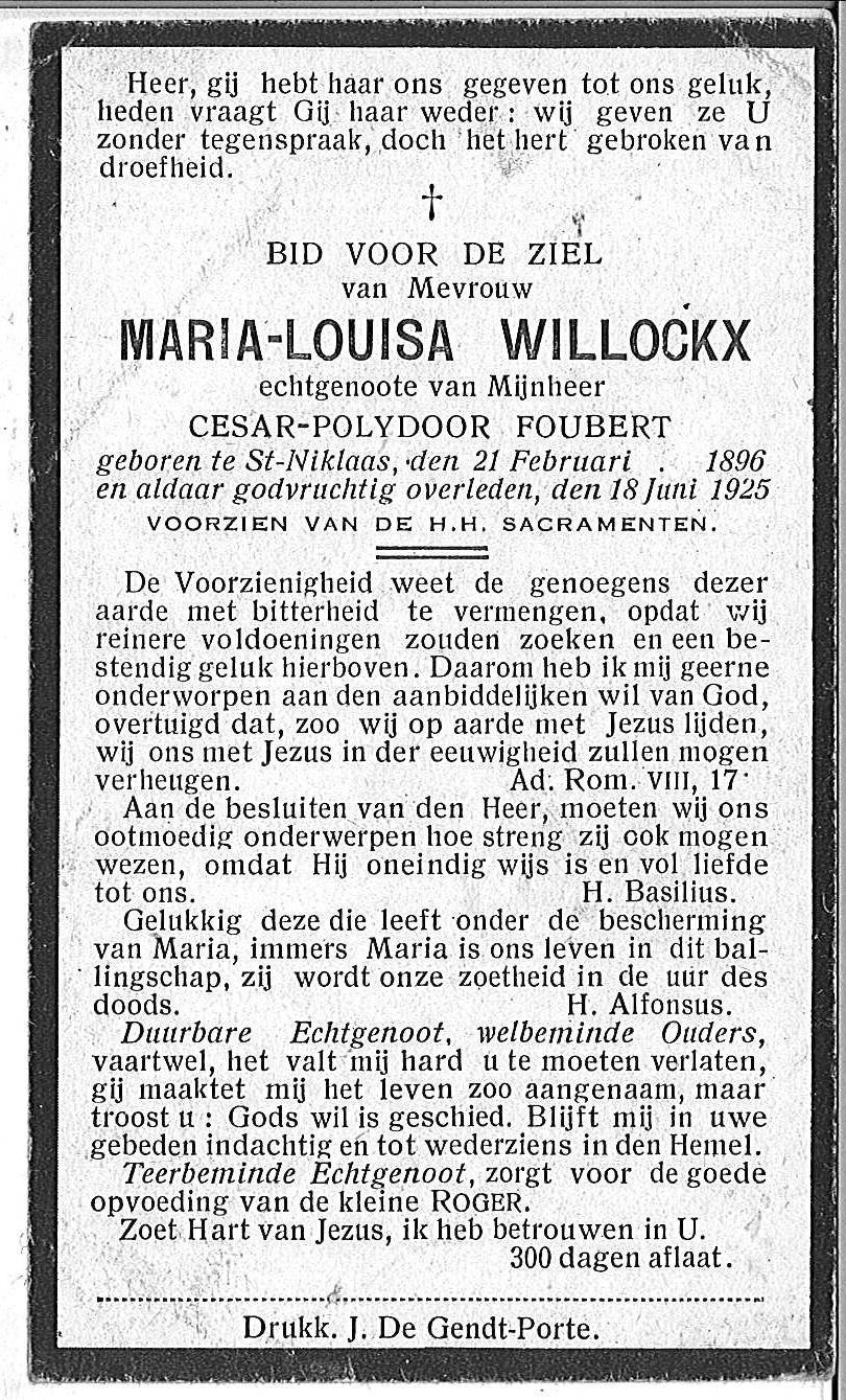 Maria-Louisa Willockx